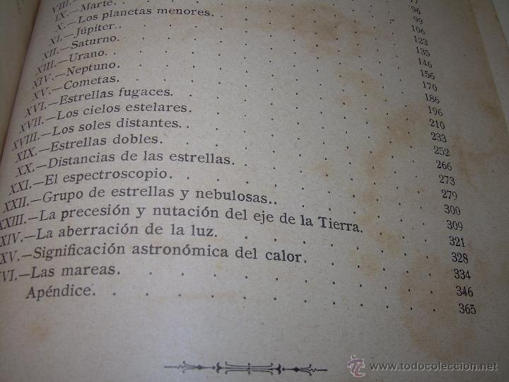 Libros antiguos: LA HISTORIA DE LOS CIELOS....TRATADO DE ASTRONOMIA.....CON NUMEROSISIMOS GRABADOS Y CROMOLITOGRAFIAS - Foto 13 - 48687161