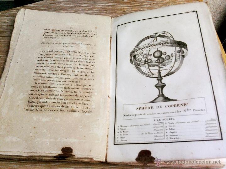 Libros antiguos: LIBRO AÑO 1826,TEMA ASTRONOMIA,GLOBO TERRAQUEO Y CELESTE-LES USAGES DE LA SPHERE DES GLOBES-FRANCES - Foto 2 - 48809471