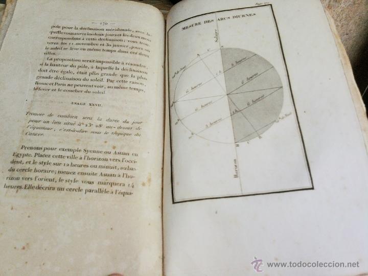 Libros antiguos: LIBRO AÑO 1826,TEMA ASTRONOMIA,GLOBO TERRAQUEO Y CELESTE-LES USAGES DE LA SPHERE DES GLOBES-FRANCES - Foto 5 - 48809471