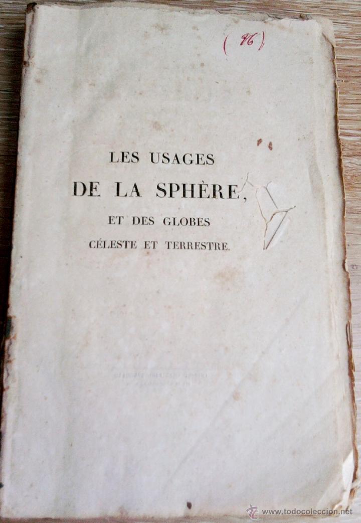Libros antiguos: LIBRO AÑO 1826,TEMA ASTRONOMIA,GLOBO TERRAQUEO Y CELESTE-LES USAGES DE LA SPHERE DES GLOBES-FRANCES - Foto 7 - 48809471