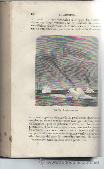 Libros antiguos: LA ATMÓSFERA, GRANDES FENÓMENOS, FLAMMARION, TM II, MADRID, IMP. Y LIB. GASPAR EDITORES 1875, LEER - Foto 2 - 49021299