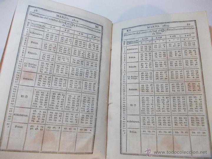 Libros antiguos: ANTIGUO LIBRO ALMANAQUE NAUTICO Y EFEMERIDES ASTRONOMICAS CALCULADAS PARA EL AÑO 1825 - Foto 3 - 49529536