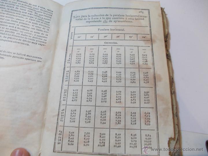 Libros antiguos: ANTIGUO LIBRO ALMANAQUE NAUTICO Y EFEMERIDES ASTRONOMICAS CALCULADAS PARA EL AÑO 1825 - Foto 5 - 49529536