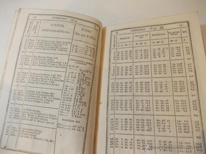 Libros antiguos: ANTIGUO LIBRO ALMANAQUE NAUTICO Y EFEMERIDES ASTRONOMICAS CALCULADAS PARA EL AÑO 1824 - Foto 2 - 49529980
