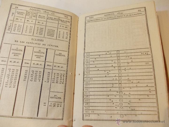 Libros antiguos: ANTIGUO LIBRO ALMANAQUE NAUTICO Y EFEMERIDES ASTRONOMICAS CALCULADAS PARA EL AÑO 1824 - Foto 3 - 49529980