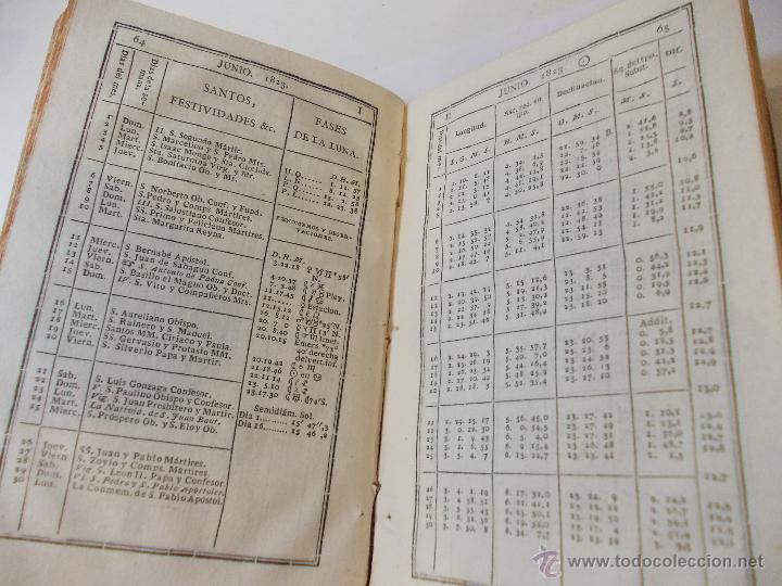 Libros antiguos: ANTIGUO LIBRO ALMANAQUE NAUTICO Y EFEMERIDES ASTRONOMICAS CALCULADAS PARA EL AÑO 1823 - Foto 3 - 49530089