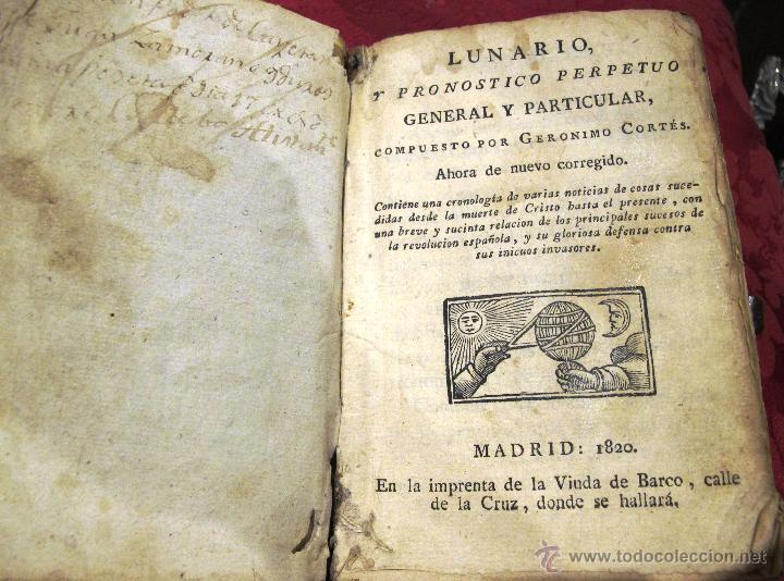 Libros antiguos: LUNARIO Y PRONOSTICO PERPETUO GENERAL Y PARTICULAR COMPUESTO POR GERONIMO CORTES - Foto 3 - 50546493