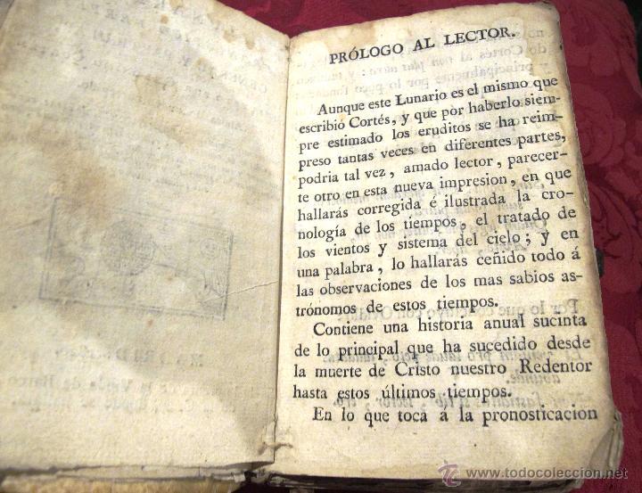 Libros antiguos: LUNARIO Y PRONOSTICO PERPETUO GENERAL Y PARTICULAR COMPUESTO POR GERONIMO CORTES - Foto 4 - 50546493