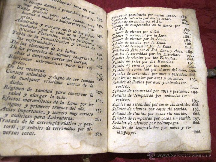Libros antiguos: LUNARIO Y PRONOSTICO PERPETUO GENERAL Y PARTICULAR COMPUESTO POR GERONIMO CORTES - Foto 7 - 50546493
