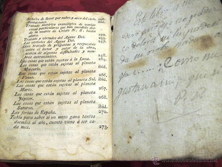 Libros antiguos: LUNARIO Y PRONOSTICO PERPETUO GENERAL Y PARTICULAR COMPUESTO POR GERONIMO CORTES - Foto 8 - 50546493
