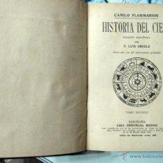 Libros antiguos: FLAMMARION. HISTORIA DEL CIELO. TOMO II. H. 1925. Lote 51341473