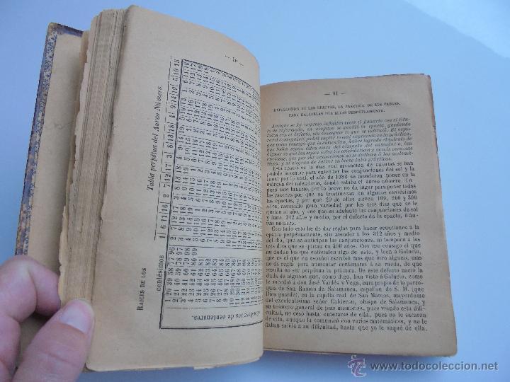 Libros antiguos: LUNARIO PERPETUO PRONOSTICO GENERAL Y PARTICULAR DEL REINO Y PROVINCIAS. CORTES. 1903?. VER FOTOS. - Foto 14 - 52590613