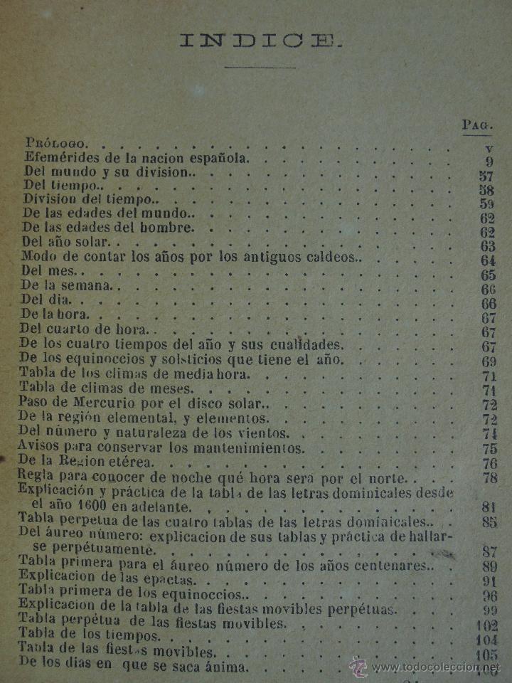 Libros antiguos: LUNARIO PERPETUO PRONOSTICO GENERAL Y PARTICULAR DEL REINO Y PROVINCIAS. CORTES. 1903?. VER FOTOS. - Foto 21 - 52590613