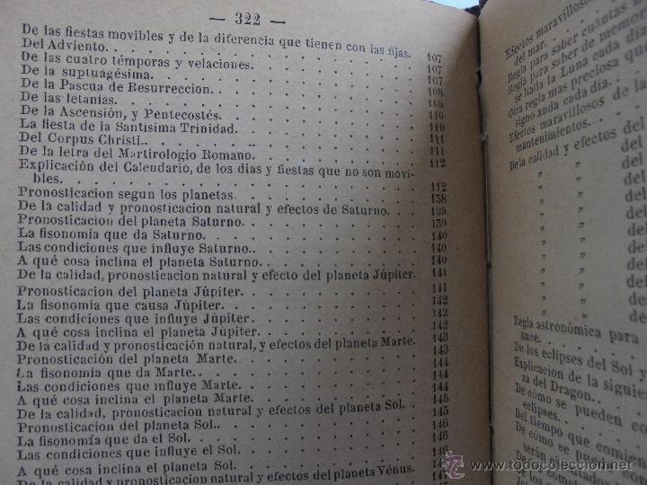 Libros antiguos: LUNARIO PERPETUO PRONOSTICO GENERAL Y PARTICULAR DEL REINO Y PROVINCIAS. CORTES. 1903?. VER FOTOS. - Foto 22 - 52590613