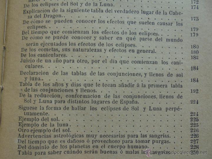 Libros antiguos: LUNARIO PERPETUO PRONOSTICO GENERAL Y PARTICULAR DEL REINO Y PROVINCIAS. CORTES. 1903?. VER FOTOS. - Foto 25 - 52590613