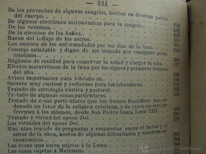 Libros antiguos: LUNARIO PERPETUO PRONOSTICO GENERAL Y PARTICULAR DEL REINO Y PROVINCIAS. CORTES. 1903?. VER FOTOS. - Foto 26 - 52590613