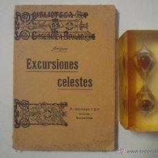 Libros antiguos: AMIGUES. EXCURSIONES CELESTES. 1910. ASTRONOMIA. 1A EDICIÓN.. Lote 53405107