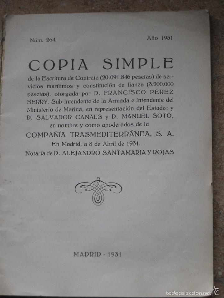 Libros antiguos: SERVICIOS DE COMUNICACIONES MARITIMAS DE SOBERANIA - MADRID 1931. - Foto 2 - 55860746