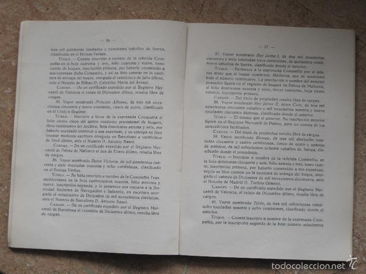 Libros antiguos: SERVICIOS DE COMUNICACIONES MARITIMAS DE SOBERANIA - MADRID 1931. - Foto 3 - 55860746