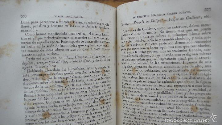 Libros antiguos: 2 OBRAS DE FLAMMARION: LA PLURALIDAD DE MUNDOS HABITADOS Y LOS MUNDOS IMAGINARIOS, 1873. - Foto 6 - 56817719