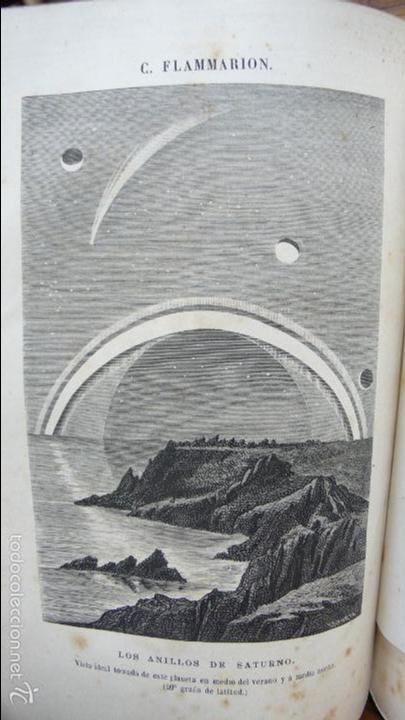Libros antiguos: 2 OBRAS DE FLAMMARION: LA PLURALIDAD DE MUNDOS HABITADOS Y LOS MUNDOS IMAGINARIOS, 1873. - Foto 7 - 56817719