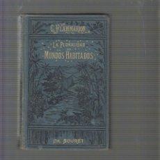Libros antiguos: LA PLURALIDAD DE MUNDOS HABITADOS / CAMILO FLAMMARION -EDICION 1924. Lote 105930562