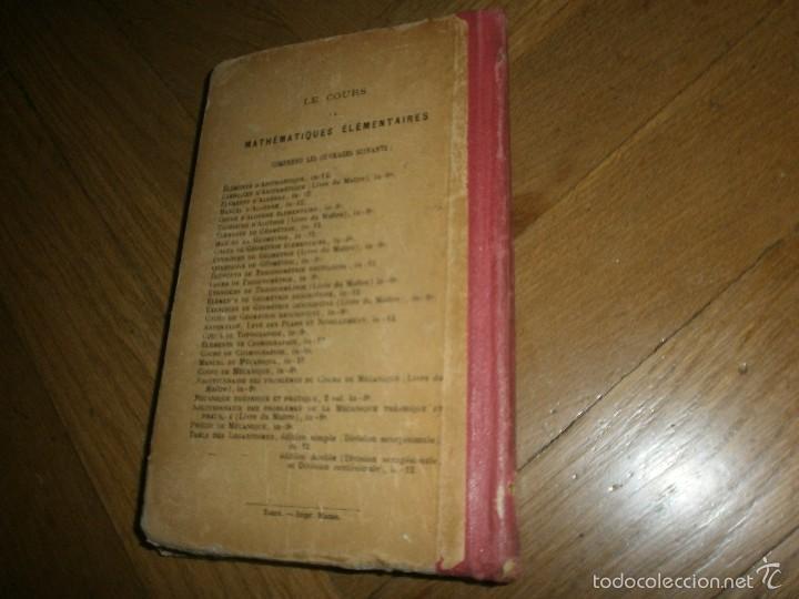 Libros antiguos: ÉLEMENTS DE COSMOGRAPHIE PAR F. J. COURS DE MATHÉMATIQUES ÉLÉMENTAIRES (1920) LIBRO EN FRANCÉS - Foto 7 - 57833214