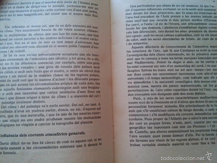 Libros antiguos: EL CEL DE CATALUNYA - ANY. 1935 - ATENEU BARCELONÈS - EDUARD FONTSERÈ - Foto 5 - 58133830