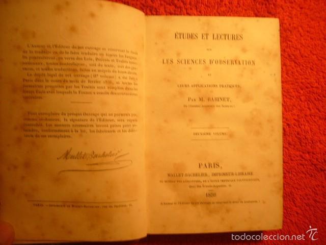 M. BABINET: - ETUDES SUR LES SCIENCES D'OBSERVATION ET LEURS APPLICATIONS (VOL. 2) - (PARIS, 1856) (Libros Antiguos, Raros y Curiosos - Ciencias, Manuales y Oficios - Astronomía)