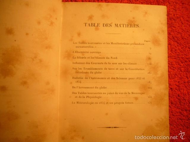 Libros antiguos: M. BABINET: - ETUDES SUR LES SCIENCES DOBSERVATION ET LEURS APPLICATIONS (VOL. 2) - (PARIS, 1856) - Foto 2 - 59827420