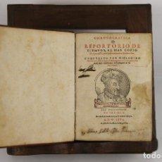 Libros antiguos: 5431- CHRONOGRAPHIA O REPORTORIO DE TIEMPOS. HIERONIMO DE CHAVES. IMP. FERNANDO DIAZ. 1584.. Lote 50072984