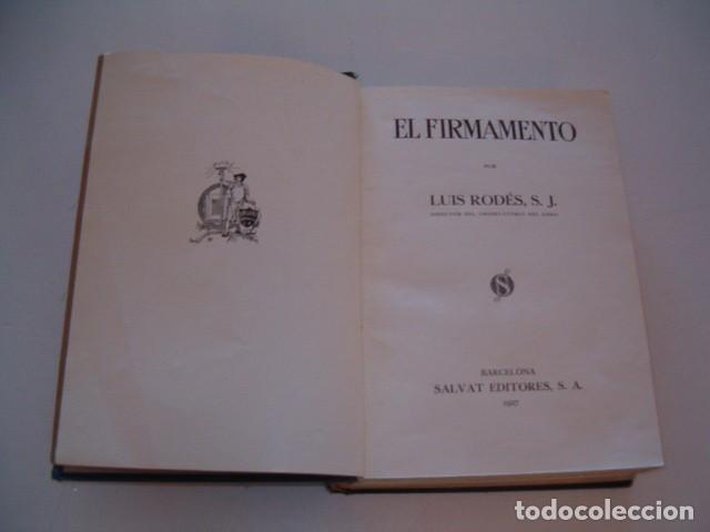 Libros antiguos: LUIS RODÉS, S. J. El Firmamento. RM77277. - Foto 2 - 64767191