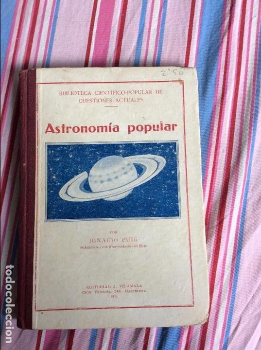 ASTRONOMIA POPULAR, BLIBIOTECA CIENTIFICO-POPULAR DE CUESTIONES ACTUALES, POR IGNACIO (Libros Antiguos, Raros y Curiosos - Ciencias, Manuales y Oficios - Astronomía)