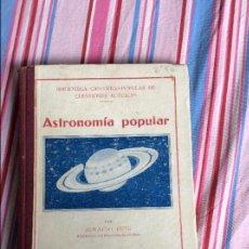 Libros antiguos: ASTRONOMIA POPULAR, BLIBIOTECA CIENTIFICO-POPULAR DE CUESTIONES ACTUALES, POR IGNACIO. Lote 65733390