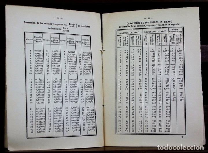 Libros antiguos: LP-318 - TABLAS PUBLICADAS POR EL OBSERVATORIO ASTRONÓMICO. TALL. INST. GEOGRÁFICO. 1938. - Foto 3 - 66206314