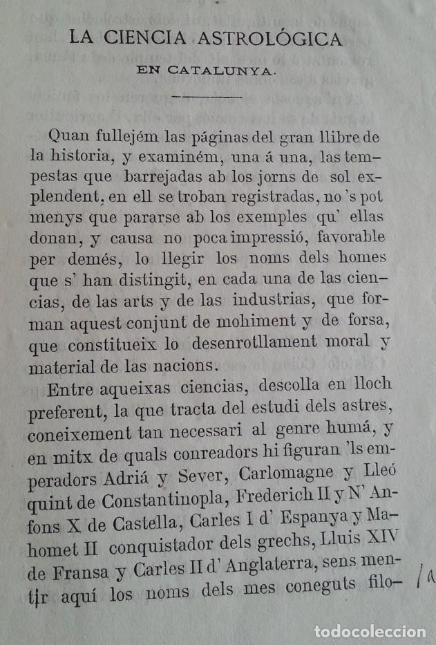 Libros antiguos: Barcelona 1875 * LA CIENCIA ASTROLOGICA EN CATALUNYA * en catalan - Foto 3 - 66859714