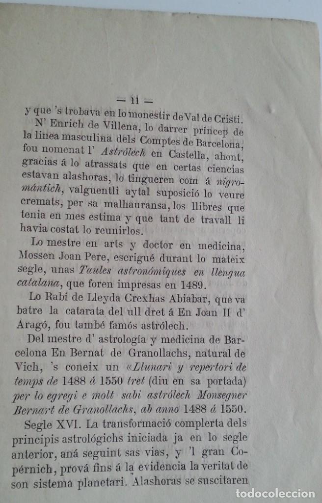 Libros antiguos: Barcelona 1875 * LA CIENCIA ASTROLOGICA EN CATALUNYA * en catalan - Foto 4 - 66859714