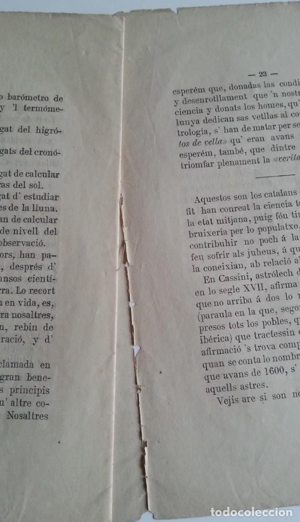 Libros antiguos: Barcelona 1875 * LA CIENCIA ASTROLOGICA EN CATALUNYA * en catalan - Foto 5 - 66859714