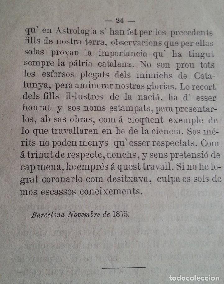 Libros antiguos: Barcelona 1875 * LA CIENCIA ASTROLOGICA EN CATALUNYA * en catalan - Foto 6 - 66859714