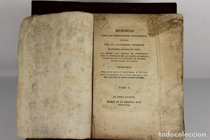 4656 - MEMORIAS HECHAS POR LOS NAVEGANTES ESPAÑOLES. JOSEPH ESPINOSA. IMP. REAL. (Libros Antiguos, Raros y Curiosos - Ciencias, Manuales y Oficios - Astronomía)