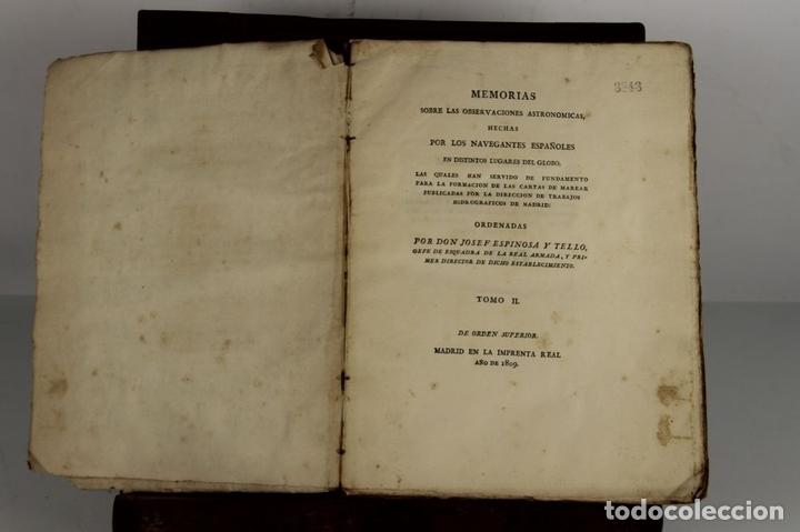Libros antiguos: 4656 - MEMORIAS HECHAS POR LOS NAVEGANTES ESPAÑOLES. JOSEPH ESPINOSA. IMP. REAL. - Foto 2 - 43509148