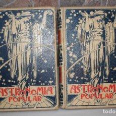 Libros antiguos: ASTRONOMIA POPULAR, DESCRIPCION GENERAL DEL CIELO, AUGUSTO ARCIMIS.2 TOMOS.MONTANER Y SIMON 1901. Lote 69949253