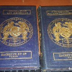 Libros antiguos: LES METEORES DE MARGOLLE Y ECLAIRS ET TONNERRE DE FONVIELLE, HACHETTE, PARIS 1875 Y 1874. Lote 71444883