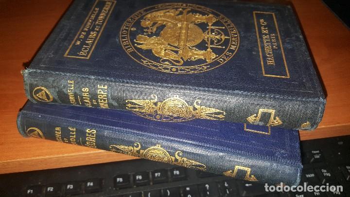 Libros antiguos: Les meteores de margolle y eclairs et tonnerre de fonvielle, hachette, paris 1875 y 1874 - Foto 2 - 71444883