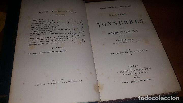 Libros antiguos: Les meteores de margolle y eclairs et tonnerre de fonvielle, hachette, paris 1875 y 1874 - Foto 7 - 71444883
