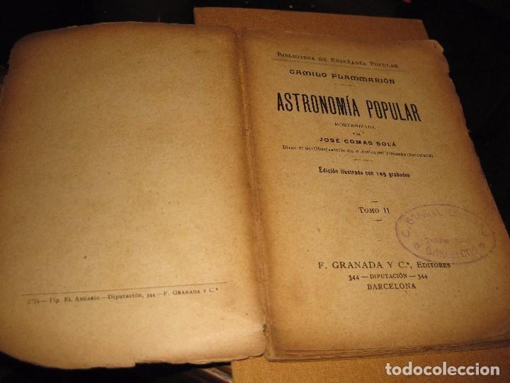 Libros antiguos: antiguo libro astronomia popular . c. Flammarion , tomo II . grabados ed f, granada años 20? - Foto 3 - 75739323