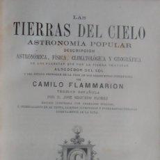 Libros antiguos: 'LAS TIERRAS DEL CIELO. ASTRONOMIA POPULAR' POR CAMILO FLAMMARION. 2 FOTOGRAFIAS DE LA LUNA 1877. Lote 79144813