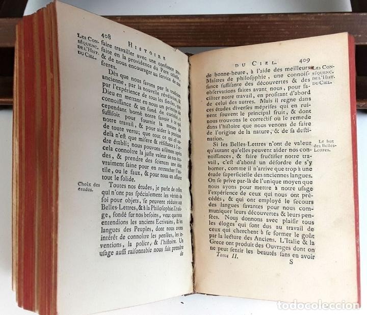 Libros antiguos: HISTOIRE DU CIEL. TOMO SECOND. VV. AA. EDIT. FRERES ESTIENNE. 1771. - Foto 4 - 79303361