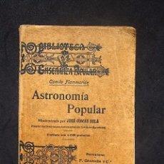 Libros antiguos: CAMILO FLAMMARION: ASTRONOMÍA POPULAR, F. GRANADA, 1906. Lote 79943505