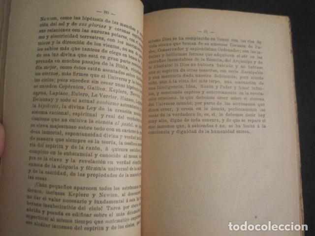 Libros antiguos: ASTRONOMIA RACIONAL Y ASTRONOMIA IRRACIONAL-ENRIQUE SANCHEZ BARCELONA AÑO 1901 -VER FOTOS-(V-10.071) - Foto 4 - 80766002